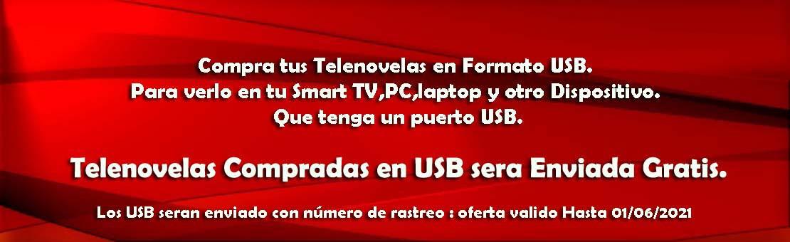 Telenovelas Compradas en USB sera Enviada Gratis. - Solo aqui por www.Telenovelas.nl